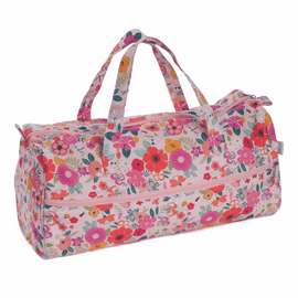 Floral Garden Pink Knitting Bag By Hobby Gift