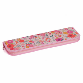 Floral Garden Pink Knitting Pin and Crochet Hook Case By Hobby Gift