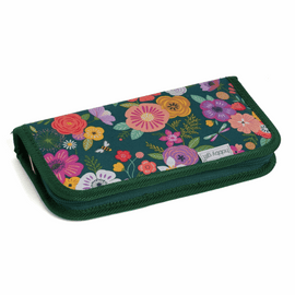 Floral Garden Teal Crochet Hook Case By Hobby Gift