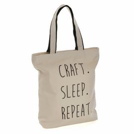 Tote Bag 'Craft Sleep Repeat' Logo By Hobby Gift