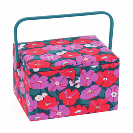 Modern Floral Large Sewing Box By Hobby Gift