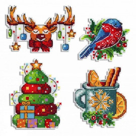 Winter Magnets Cross Stitch Kit By MP Studia