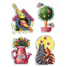 Spring Magnets Cross Stitch Kit By MP Studia