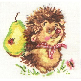 Hedgehog And Pear Cross Stitch Kit By Alisa