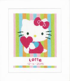 Hello Kitty Striped Birth Record Cross Stitch Kit By Vervaco