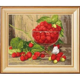 Raspberries Cross Stitch Kit By Golden Fleece