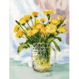 Dandelion Bouquet Cross Stitch Kit By Golden Fleece