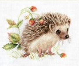 Hedgehog And Strawberry Cross Stitch Kit By Alisa