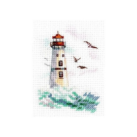Sea Is Shaking White Lighthouse Cross Stitch Kit By Alisa