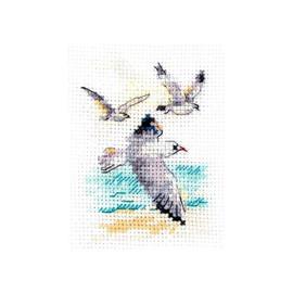 Seagulls Cross Stitch Kit By Alisa