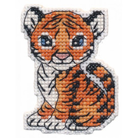 Little Tiger Magnet Cross Stitch Kit By Oven