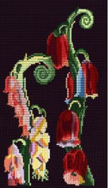 Foxglove Motif from Nouvelles Variations Cross Stitch Kit by DMC
