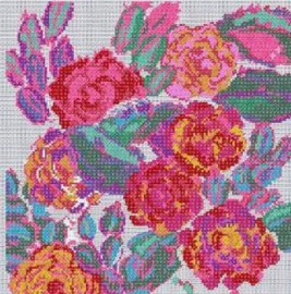 Rose Composition from Variations Cross Stitch Kit By DMC