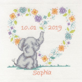 Elephant Baby Cross Stitch Sampler kit By DMC