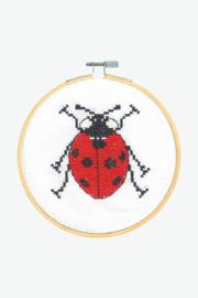 Seven Spot Ladybird Cross Stitch Kit by DMC