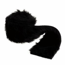 Faux Fur Trim: 2m x 80mm: Black