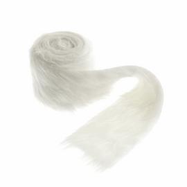 Faux Fur Trim: 2m x 80mm: White