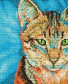 Tabby Cat Cross Stitch Kit by DMC