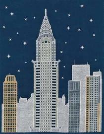 NEW YORK BY NIGHT Cross Stitch Kit by DMC