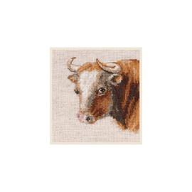 Bull Cross Stitch Kit By Alisa
