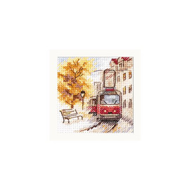 Autumn In The City: The Tram Cross Stitch Kit By Alisa