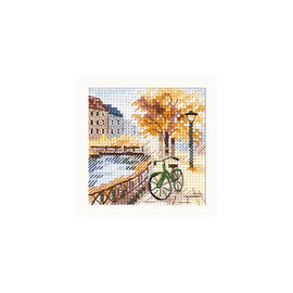 Autumn In The City: The Road By The Canal Cross Stitch Kit By Alisa