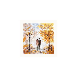 Autumn In The City: Old Park Cross Stitch Kit By Alisa
