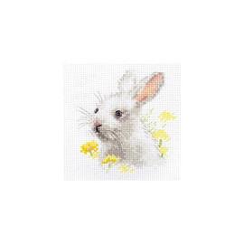 White Bunny Cross Stitch Kit By Alisa