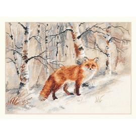 Winter Fox Cross Stitch Kit By Alisa