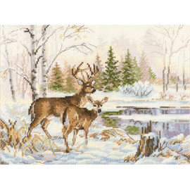 At The Forest Lake Cross Stitch Kit By Alisa