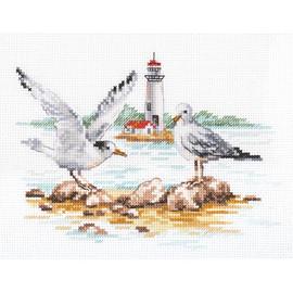 Seagulls 2 Cross Stitch Kit By Alisa