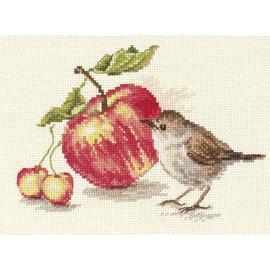 Bird And Apple Cross Stitch Kit By Alisa