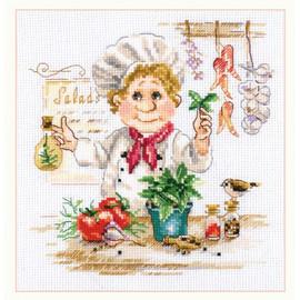 Chef Cross Stitch Kit By Alisa
