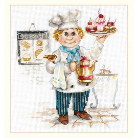 Pastry Chef Cross Stitch Kit By Alisa
