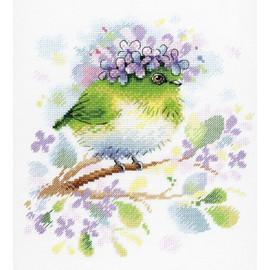 On The Lilac Branch Cross Stitch Kit By MP Studia