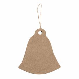 1 Hanging Papier Maché Decoration: Bell