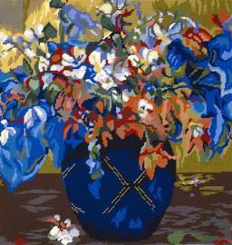 A Vase of flowers  Tapestry Kit by  Paul Gauguin DMC