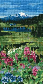 The Mountains Pre printed Tapestry Canvas by DMC