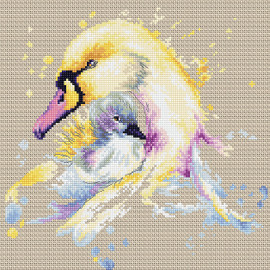 Swans Counted Cross Stitch Kit By Luca S