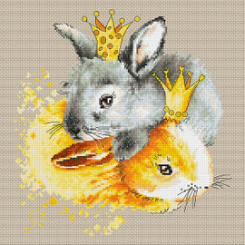 Bunnies Counted Cross Stitch Kit By Luca S