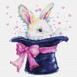 Magic Rabbit Counted Cross Stitch Kit By Luca S