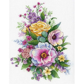 Purple Spring Cross Stitch Kit By MP Studia