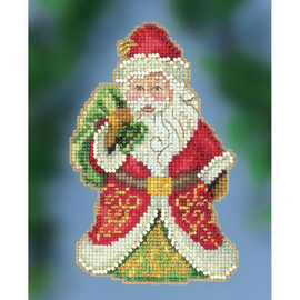 Gift Bearing Santa Cross Stitch and Beading kit by Mill Hill