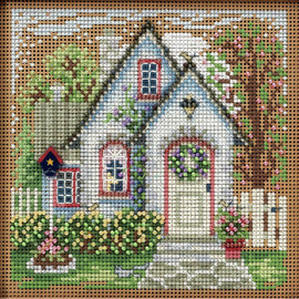 Summer Cottage Cross Stitch Kit and Beading by Mill Hill