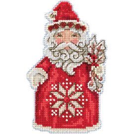Nordic Santa  Cross Stitch and Beading Kit by Mill Hill