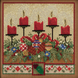 Holiday Glow Cross Stitch and Beading Kit by Mill Hill