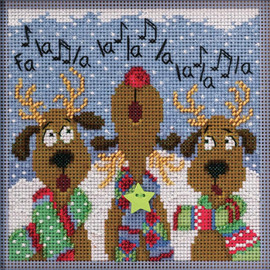 Reindeer Chorus Cross Stitch and Beading Kit by Mill Hill
