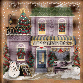 Cafe Grande Cross Stitch and Beading Kit by Mill Hill