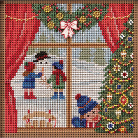 Christmas Break Cross Stitch and Beading Kit by Mill Hill