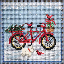 Holiday Ride Cross Stitch and Beading Kit by Mill Hill